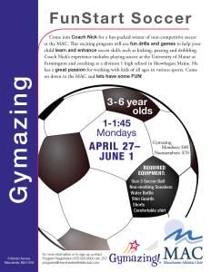 Fun Start Soccer- Spring 2015