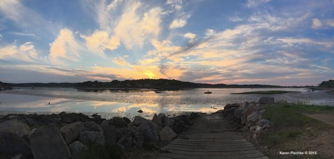 Summer Sunset Over the Annisquam