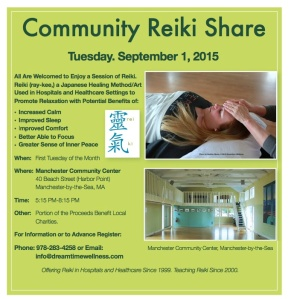 Reiki Share Sept. 1 2015