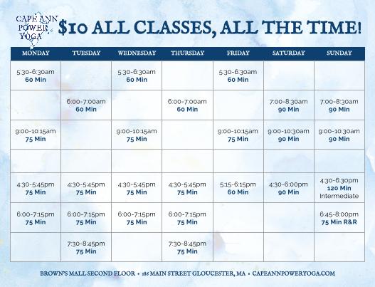 schedule capy