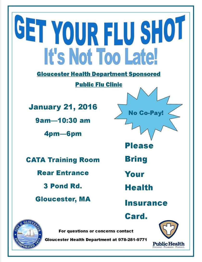 Flu Clinic Jan 2016