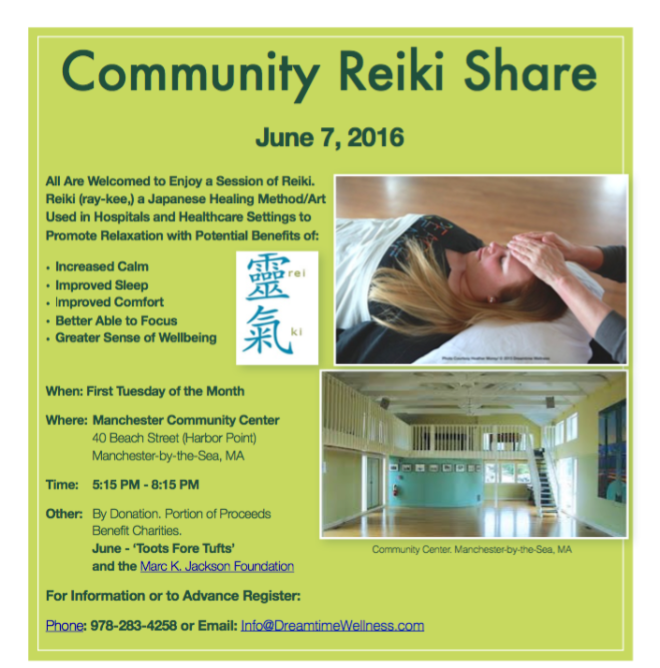 Reiki Share June 7 2016 Toots Fore Tufts