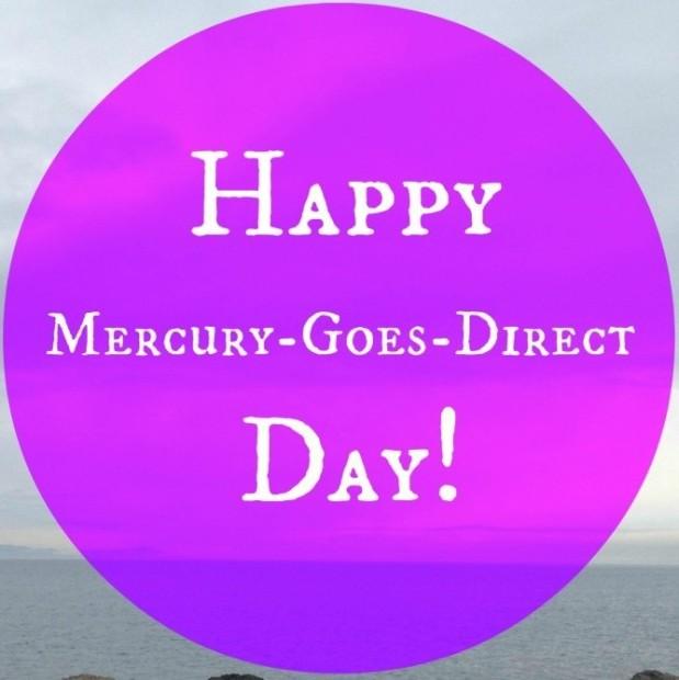 Mercury Goes Direct!