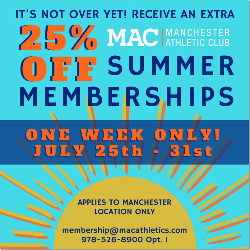 SUMMER MEMBERSHIPS_SPECIAL 25%_July 2017