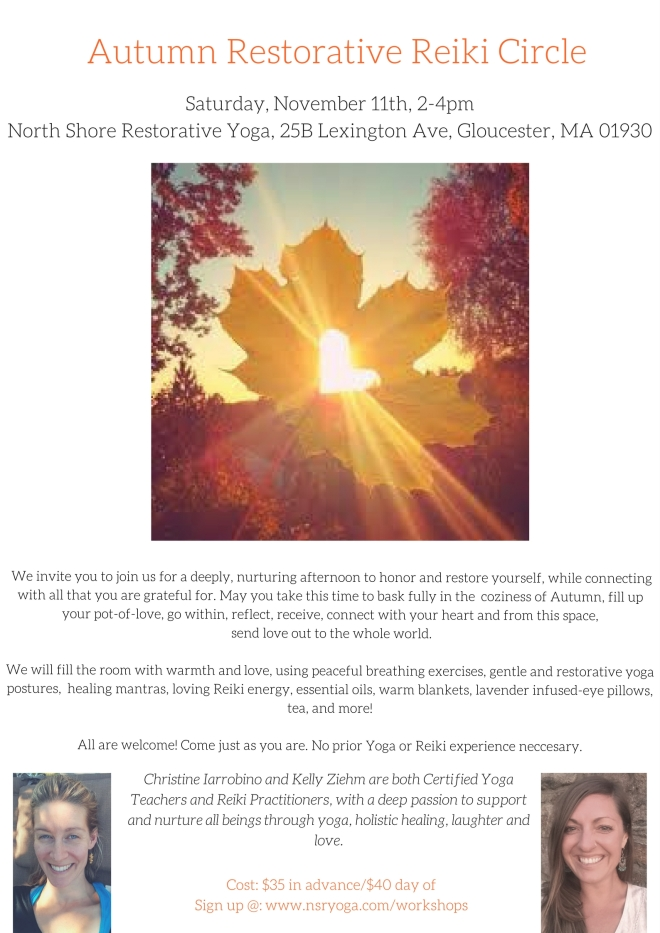 Autumn Restorative Reiki Circle