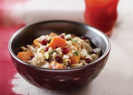 Pearl Barley w/squash/pomegranate/pistachios