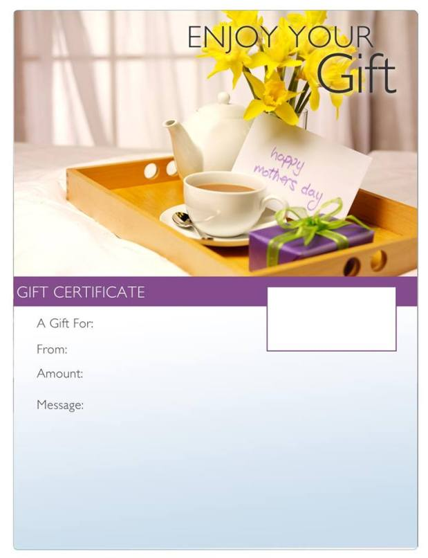 Mother's Day Gift Certificates ~