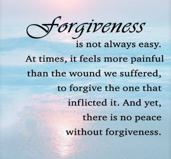 Forgiveness = wellbeing