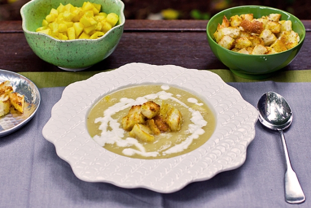 Curried Apple and Celery Soup~