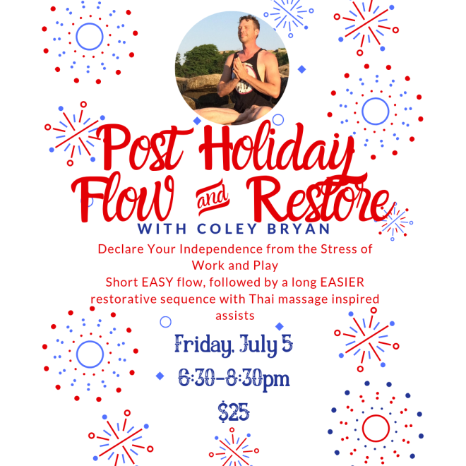 Copy of Post Holiday Flow and Restore