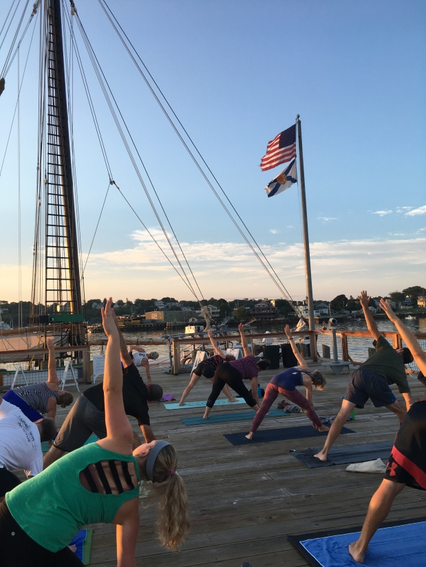 Join us Saturday and Sunday morning for All-Levels Yoga on the Harbor!