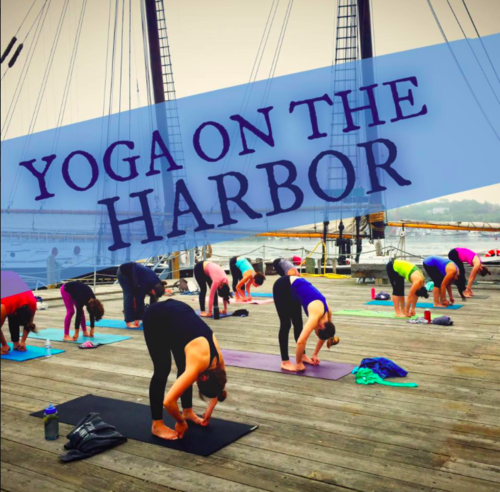Yoga on the Harbor is here ALL SUMMER LONG! Every Saturday and Sunday morning 8-9 am at Maritime Gloucester
