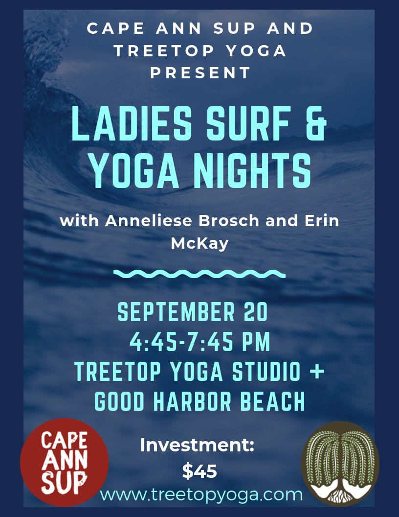 Ladies Surf and Yoga Nights