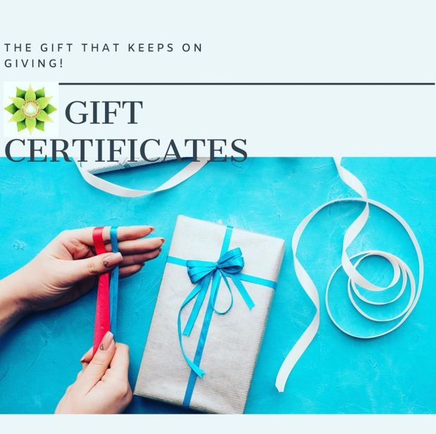 Gift Certificates ~