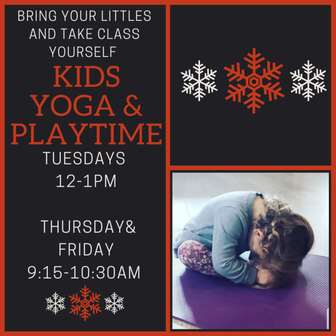 kids yoga holiday week